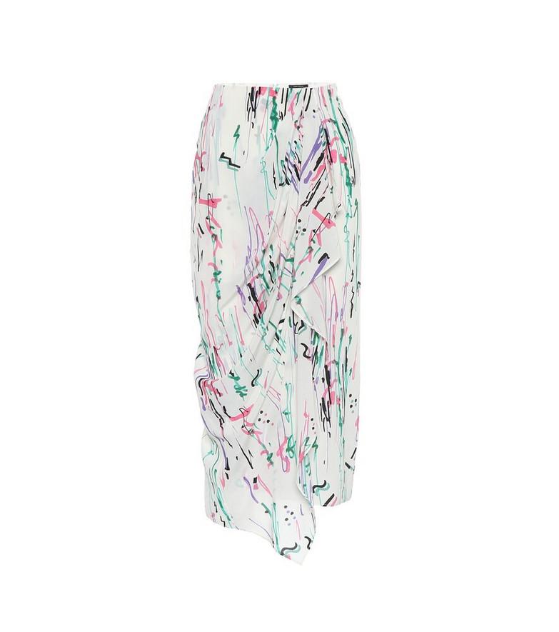 Isabel Marant Fabiana stretch-silk midi skirt in white