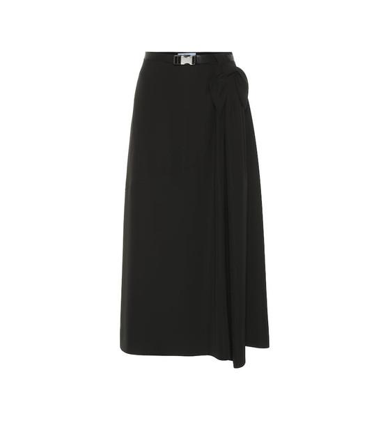 Prada Crêpe midi skirt in black