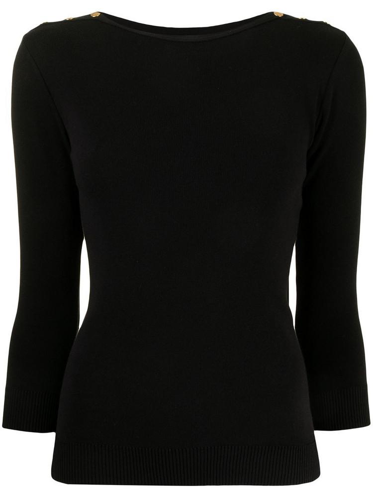 agnès b. agnès b. button-detail knitted top - Black