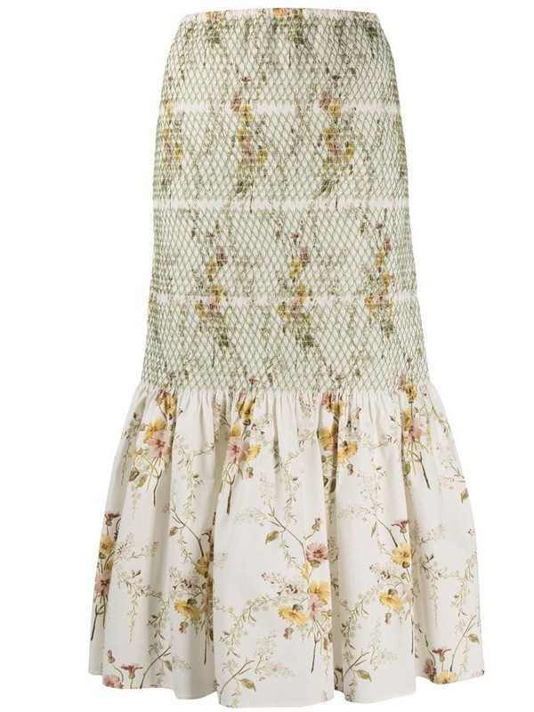 Brock Collection snake-print midi skirt in neutrals