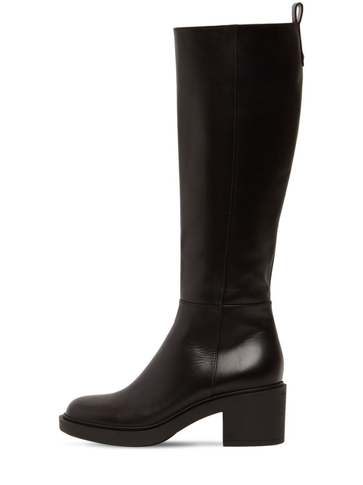 GIANVITO ROSSI 45mm Ollie Leather Tall Boots in black