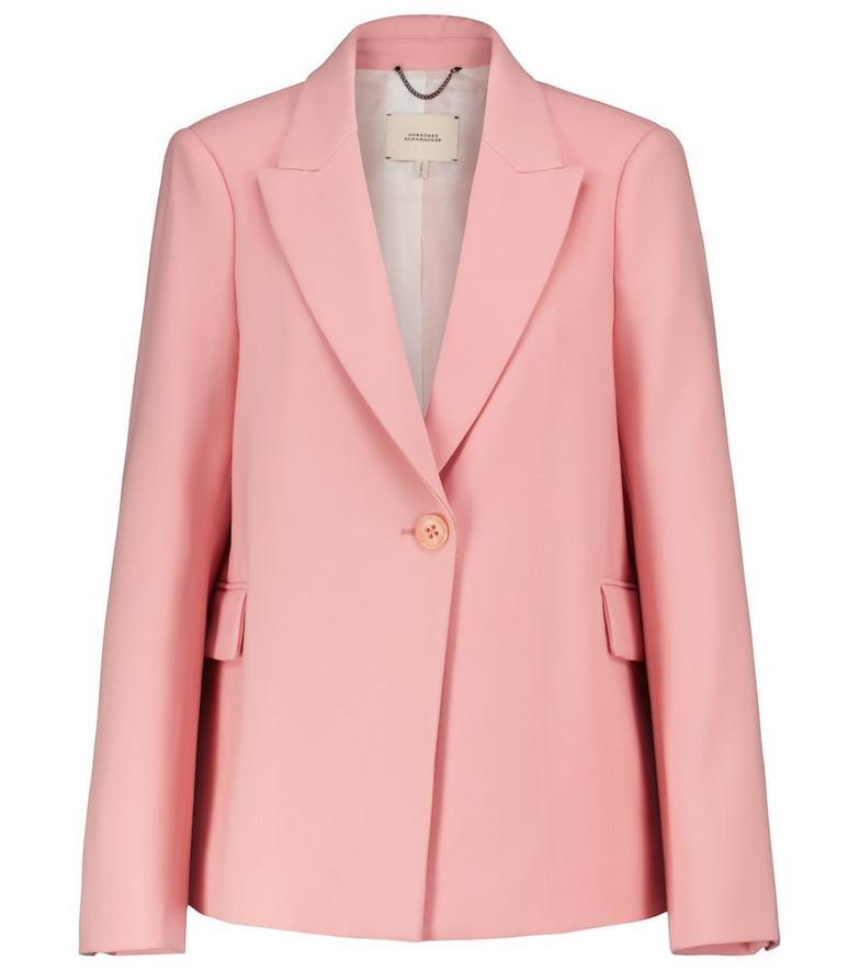 Dorothee Schumacher Refreshing Ambition blazer in pink