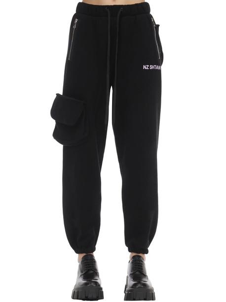 NATASHA ZINKO Heavy Cotton Jersey Pants in black