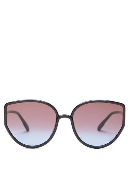 Dior Eyewear - Sostellaire4 Cat-eye Acetate Sunglasses - Womens - Black