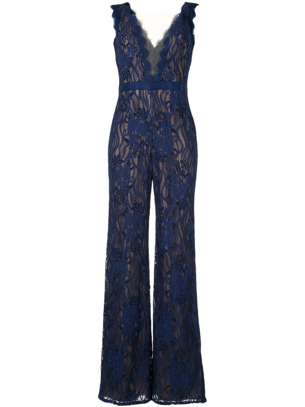 Tadashi Shoji lace jumpsuit all-in-one in blue