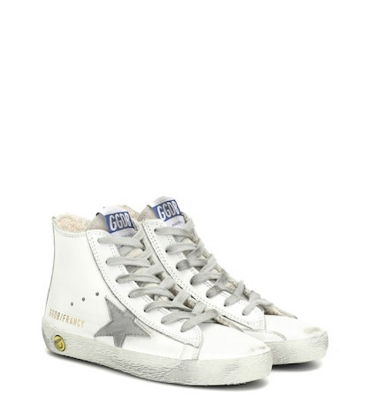 Golden Goose Deluxe Brand Kids Francy high-top leather sneakers in white