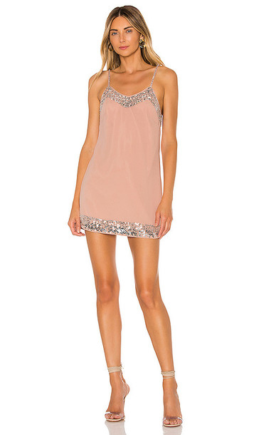 NBD Janice Embellished Mini Dress in Blush
