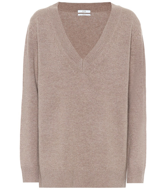 Co Wool and cashmere sweater in neutrals