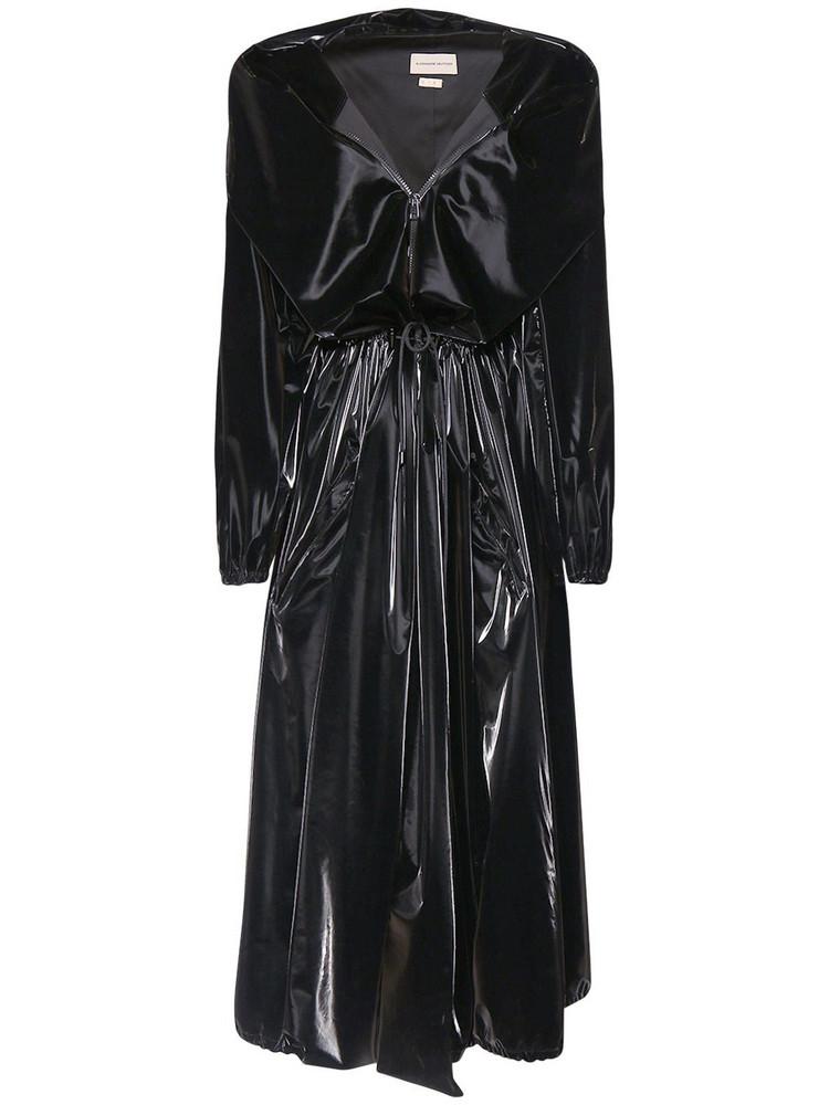 ALEXANDRE VAUTHIER Liquid Windbreaker Parka  W/ Hood in black