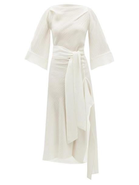 Petar Petrov - Amee Open-back Crinkled Silk-crepe Dress - Womens - Ivory