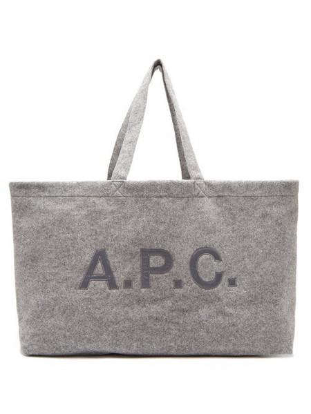 A.P.C. A.p.c. - Suzanna Oversized Felt Tote Bag - Womens - Grey