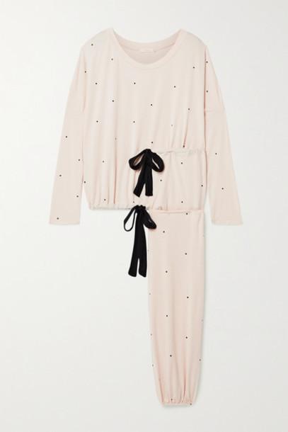 Eberjey - Slouchy Polka-dot Stretch-modal Jersey Pajama Set - Blush