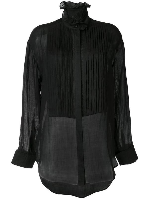 Karen Walker Obsidian pleated shirt in black