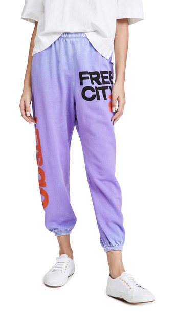 FREECITY Lets Go Free City Super Vintage Sweatpants in lavender