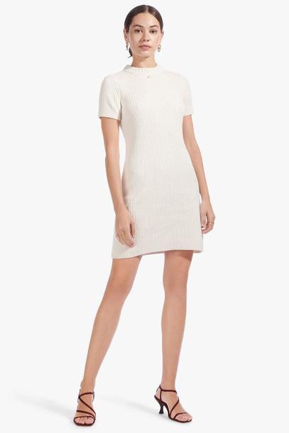 Staud DYLAN DRESS | WHITE