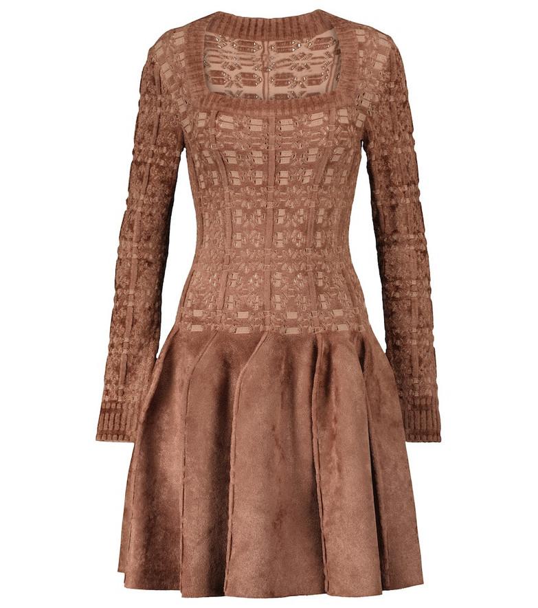 Alaïa Velvet minidress in brown