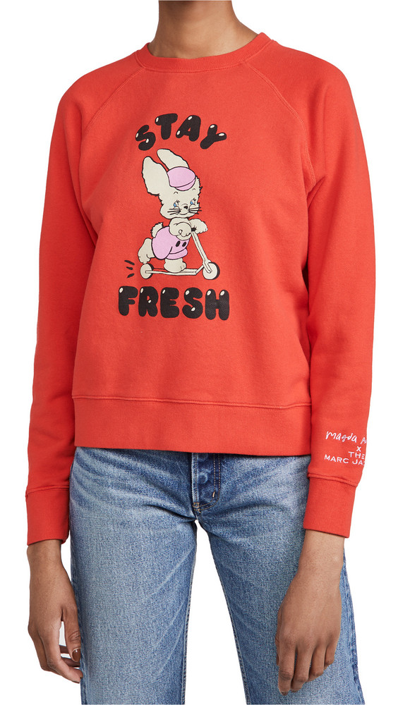 The Marc Jacobs The Magda Sweatshirt in red
