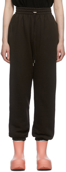 The Frankie Shop Brown Vanessa Lounge Pants in chocolate / plum