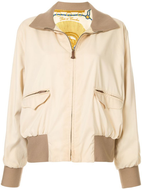 Hermès pre-owned Long Sleeve Zip Up Reversible Jacket in neutrals