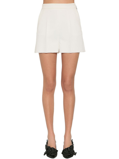 MSGM Tailored Double Crepe Shorts in white