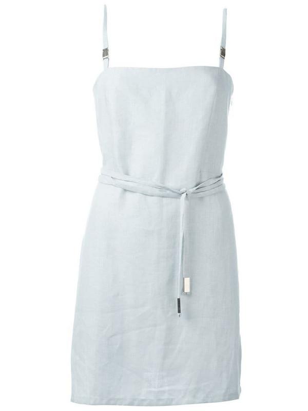 Jean Louis Scherrer Pre-Owned belted mini dress in blue