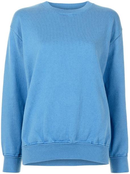 Coohem long-sleeve cotton-blend jumper in blue