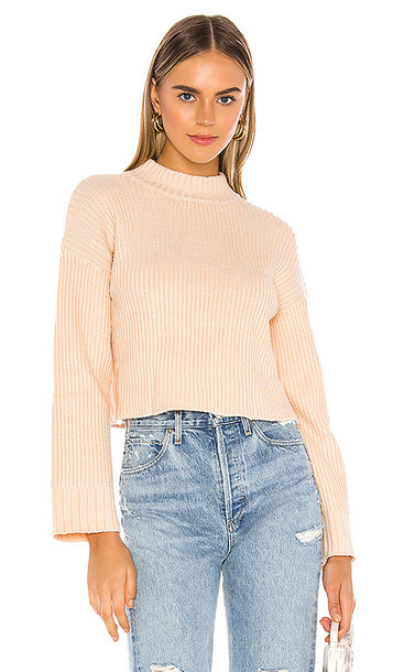 superdown Rayla Cropped Sweater in Cream