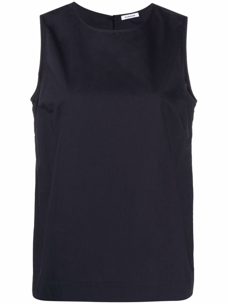 P.A.R.O.S.H. P.A.R.O.S.H. cotton sleeveless blouse - Blue