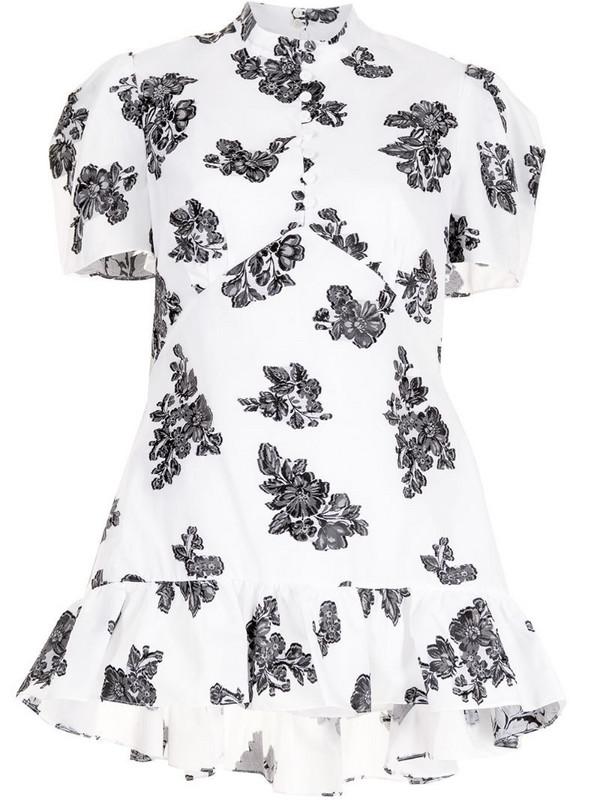 Erdem Editha floral-print blouse in white
