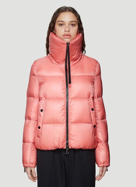 Moncler Bandama Padded Down Jacket in Pink size 4