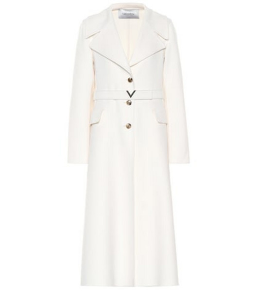 Valentino Cashmere coat in white