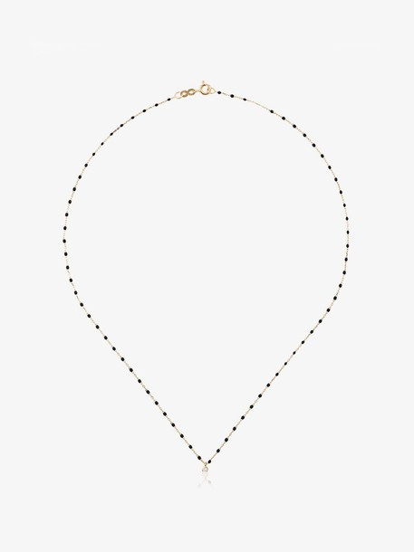 Gigi Clozeau black YG bead diamond and yellow gold necklace