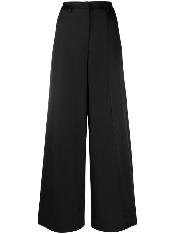 Andrea Ya'aqov wide leg cropped trousers in black