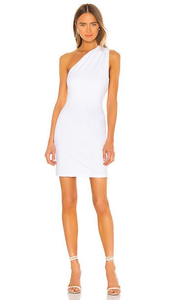 Susana Monaco Curved Back Bow Dress in White