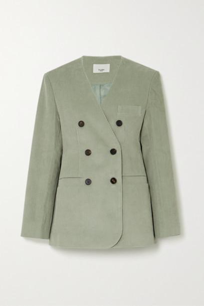 Frankie Shop - Gala Cotton-corduroy Blazer - Mint