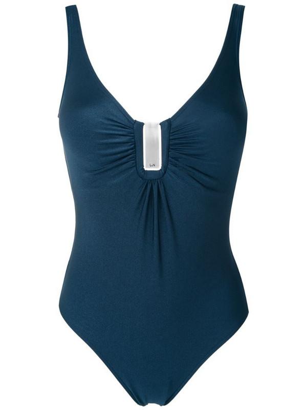 Lygia & Nanny Mirassol Trilobal swimsuit in blue