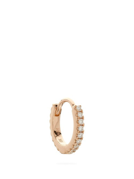 Maria Tash - Eternity Diamond & 18kt Rose Gold Single Earring - Womens - Rose Gold