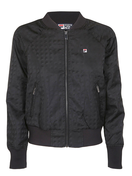 Fila Embroidered Logo Bomber in black
