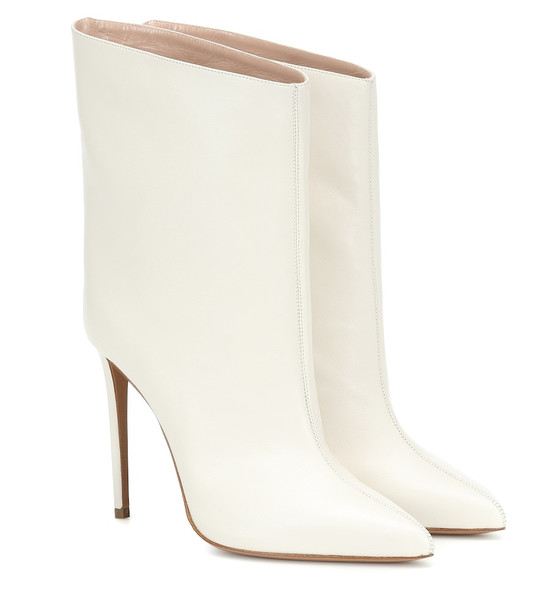 Alexandre Vauthier Leather ankle boots in white
