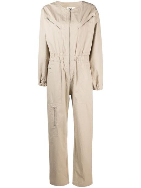 Isabel Marant Étoile zip-front cotton jumpsuit in neutrals