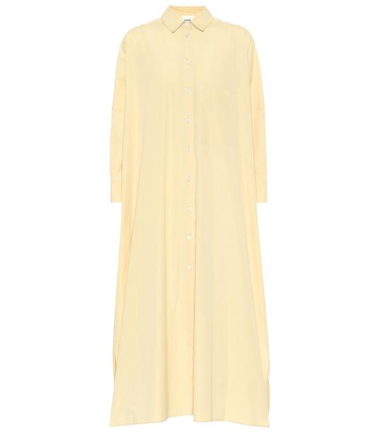 Jil Sander Cotton poplin shirt dress in yellow