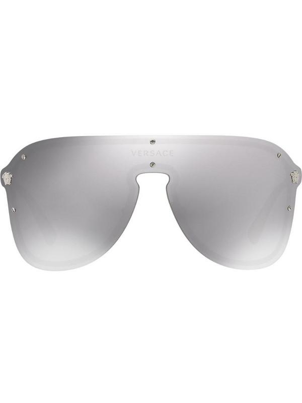 Versace Eyewear #Frenergy visor sunglasses in silver