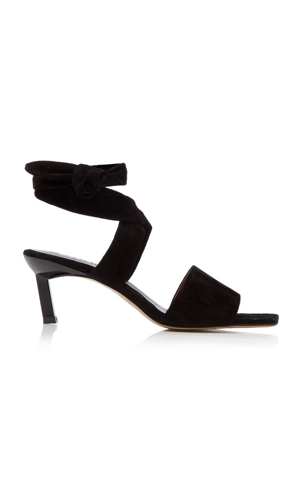 Ganni Suede Sandals Size: 36 in black