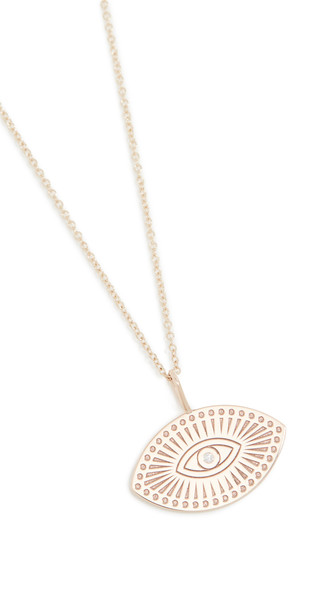 Zoe Chicco Medallion Necklace in gold