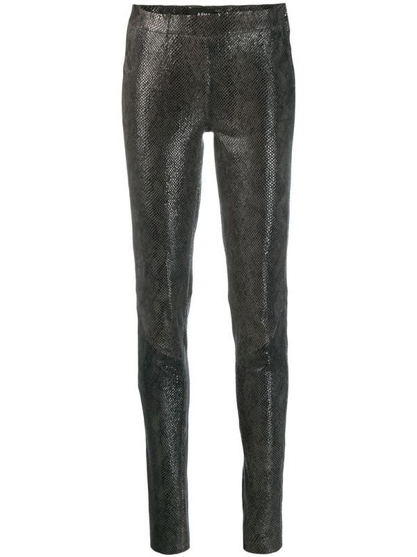 Arma snakeskin effect skinny trousers in grey