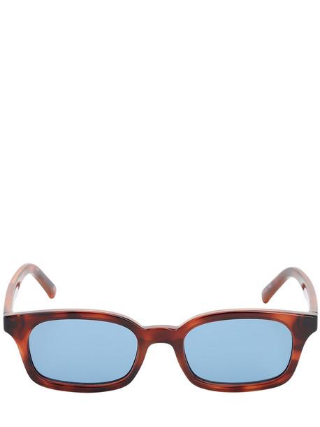 LE SPECS Carmito Squared Acetate Sunglasses in blue