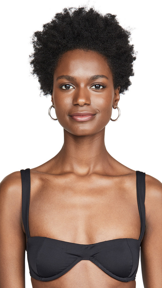 Onia x WeWoreWhat Sorrento Bikini Top in black