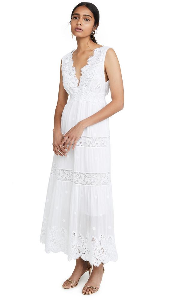 Temptation Positano Carrara Tea Length Dress in bianco