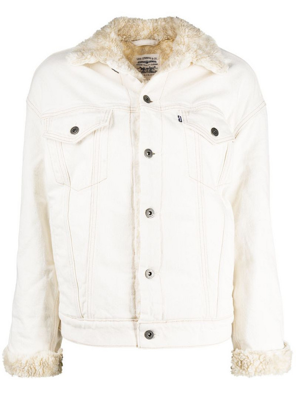 Levi's: Made & Crafted contrast-collar buttoned jacket in white