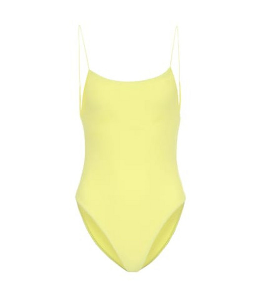 Jade Swim Exclusive to Mytheresa – Micro Trophy one-piece swimsuit in yellow